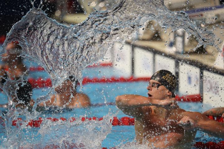 Fotografía de Lino De Vallier para Nthephoto. Cesar Cielo Filho celebra su victoria en la final los 50 mt. freestyle. FINA 2013 World Championship