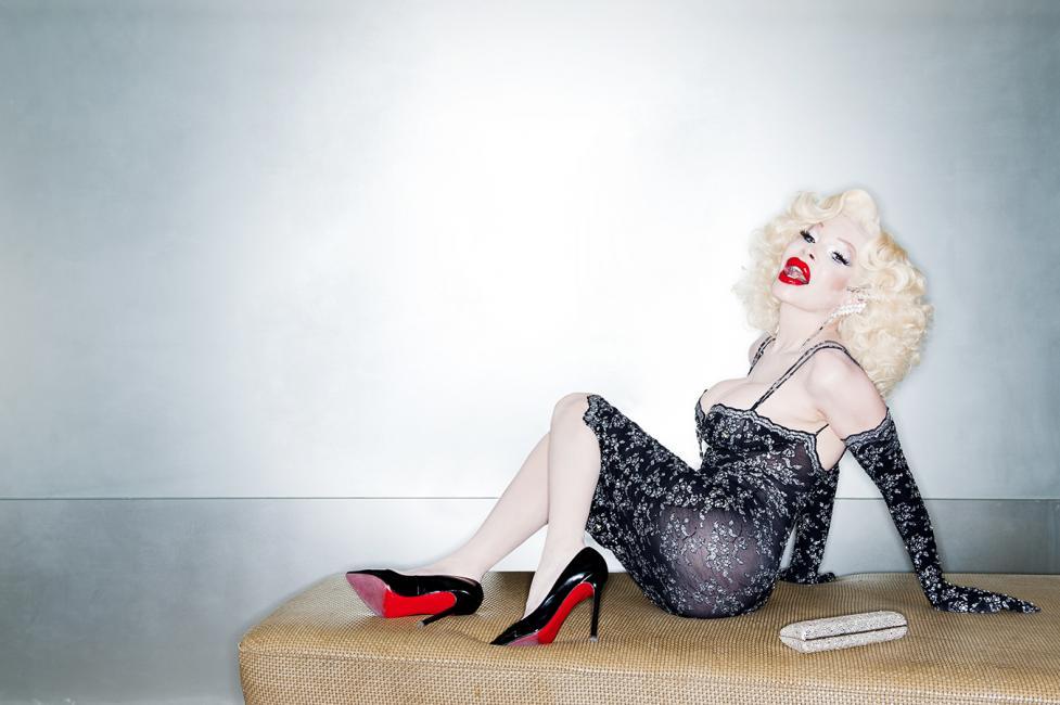 Fotografía de Ferran Forné para Nthephoto. Retrato de la diva americana Amanda Lepore