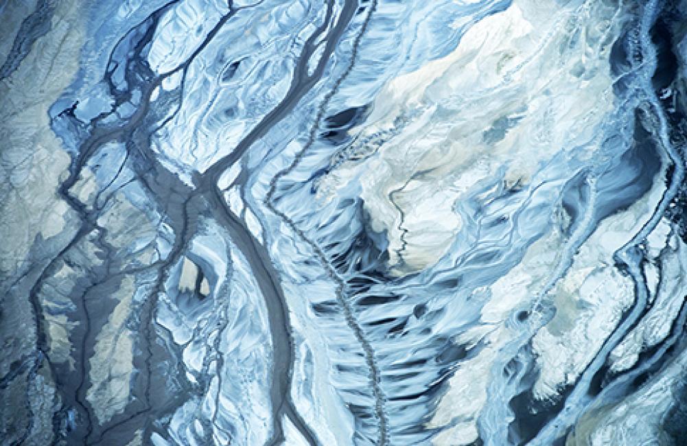 Fotografía de Salvador  Colvée Nebot para Nthephoto. Marismas del Río Odiel vistas desde una avioneta