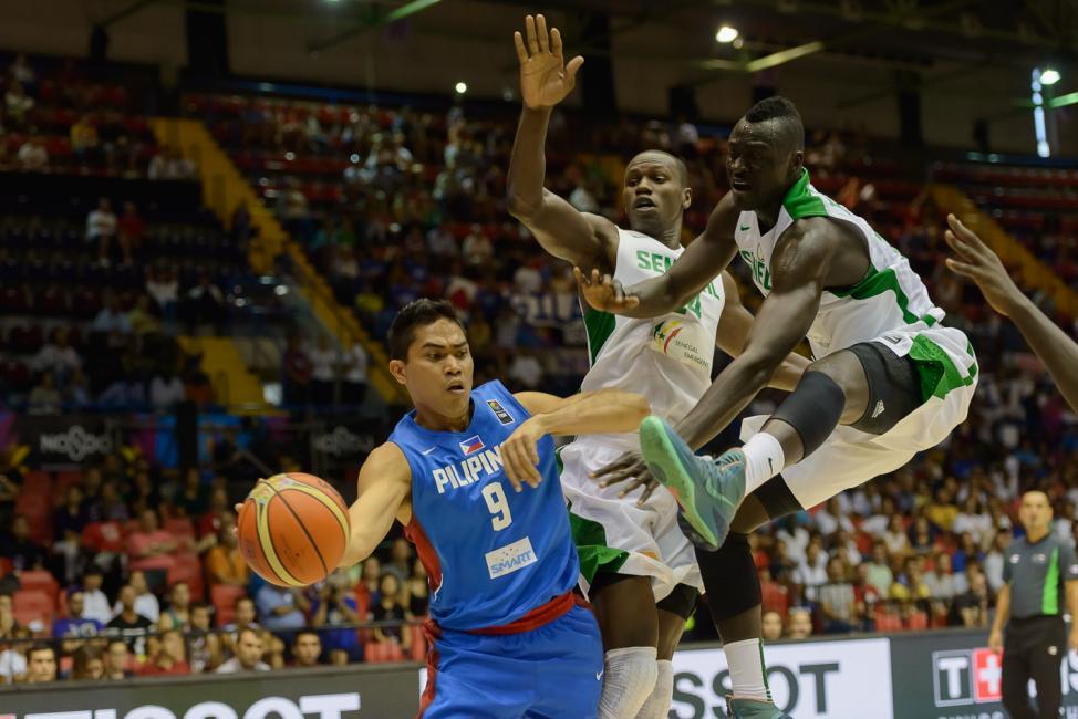 Fotografía de Carlos Bouza para Nthephoto. Copa del Mundo de Basket España 2014 - Senegal vs Filipinas