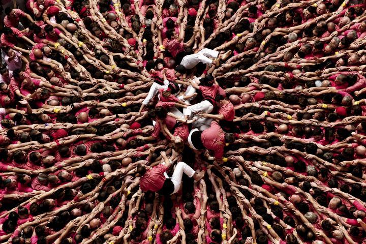 Fotografía de Josep Lago Dalmases para Nthephoto. Castellers de la