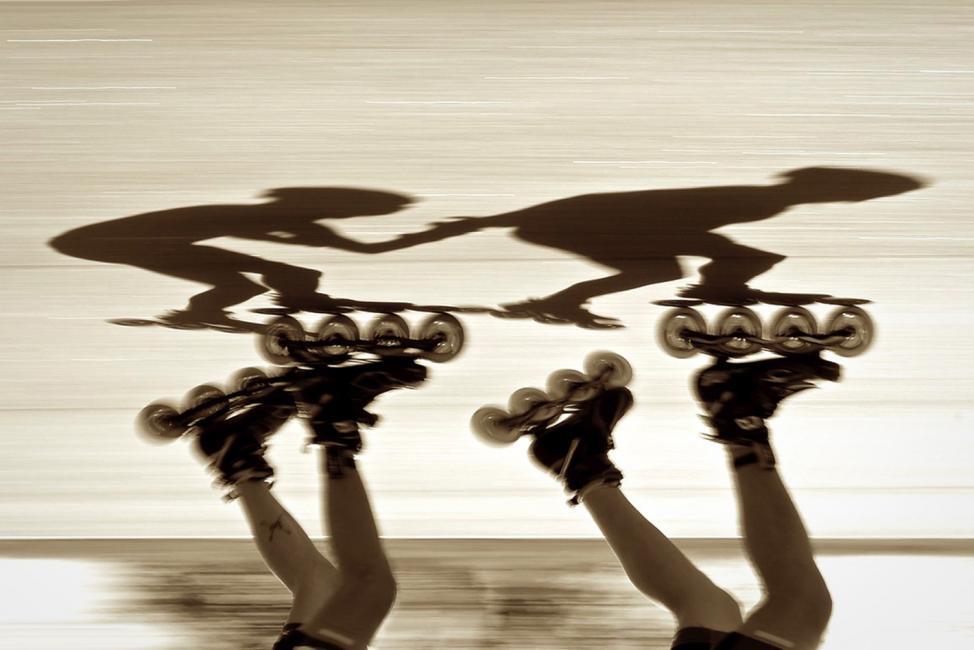 Fotografía de Pablo Silva para Nthephoto. Desafío Rollerblade. Buenos Aires 2015.