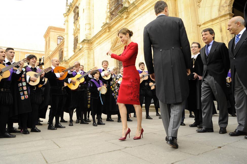 Fotografía de Rogelio Pinate Miguel para Nthephoto. La Reina Doña Letizia, en la entrega del Premio Cervantes en Alcala de Henares