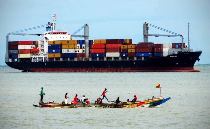 Fotografía de Gabriel Tizón para Nthephoto. Puerto de Bissau