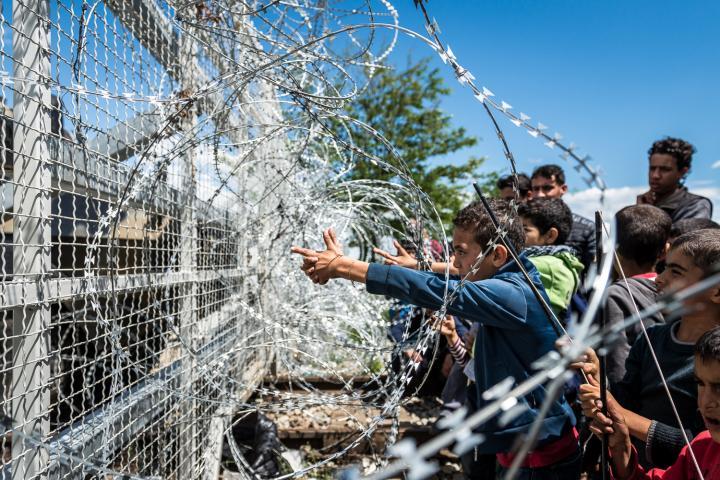 Fotografía de Ignacio Marin para Nthephoto. Campo de refugiados de Idomeni, Grecia