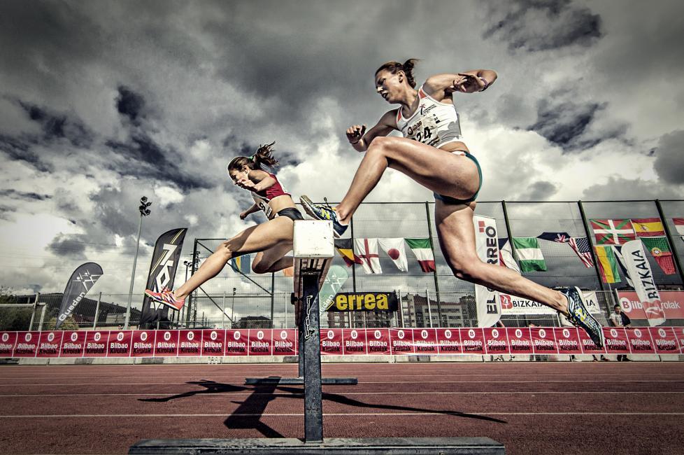 Fotografía de Pedro Luis Ajuriaguerra Saiz para Nthephoto. 3000 Obstáculos: Los campeones de España de 3000 metros de obstáculos femeninos celebrados a finales de junio en el Encuentro Internacional de Bilbao, última prueba para conseguir un lugar en los Juegos Olímpicos del Río 2016