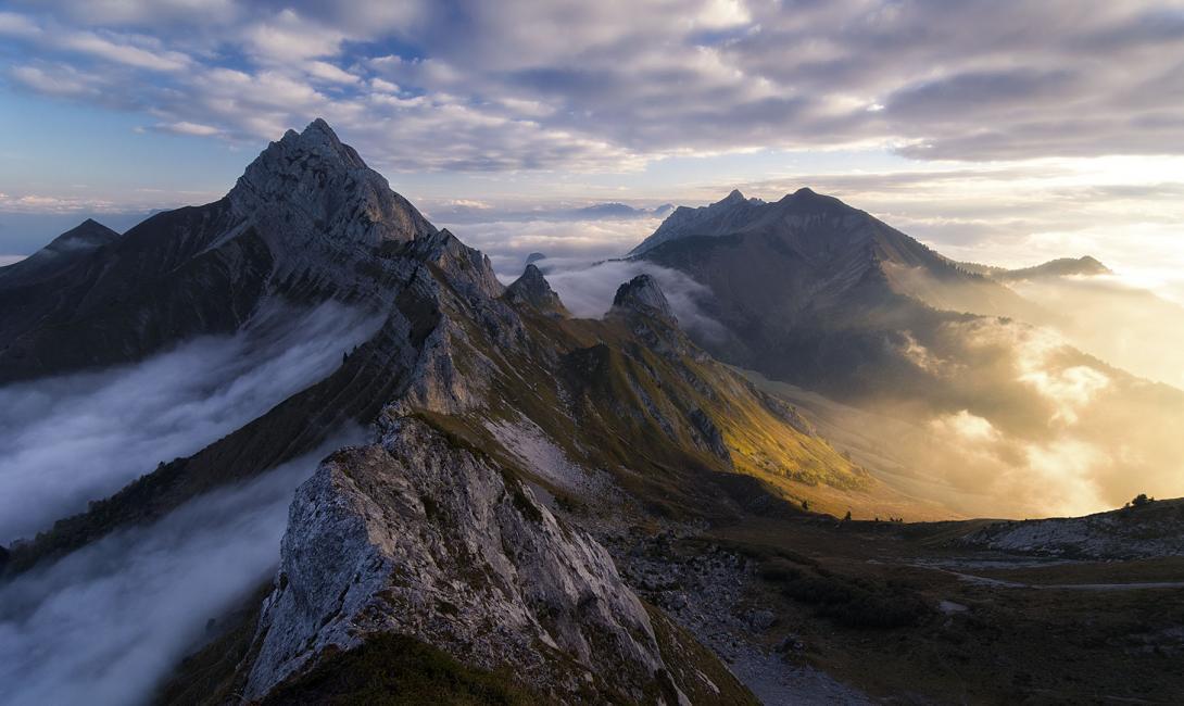 Fotografía de Iñaki Larrea para Nthephoto. El reino de los sueños. Alpes, Francia.