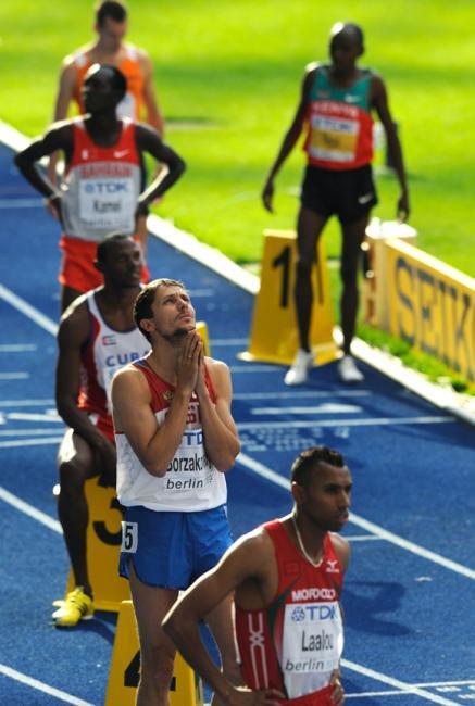 Fotografía de Sergio Carmona para Nthephoto. Mundial IAAF Berlin 2009. Salida de 800 metros.