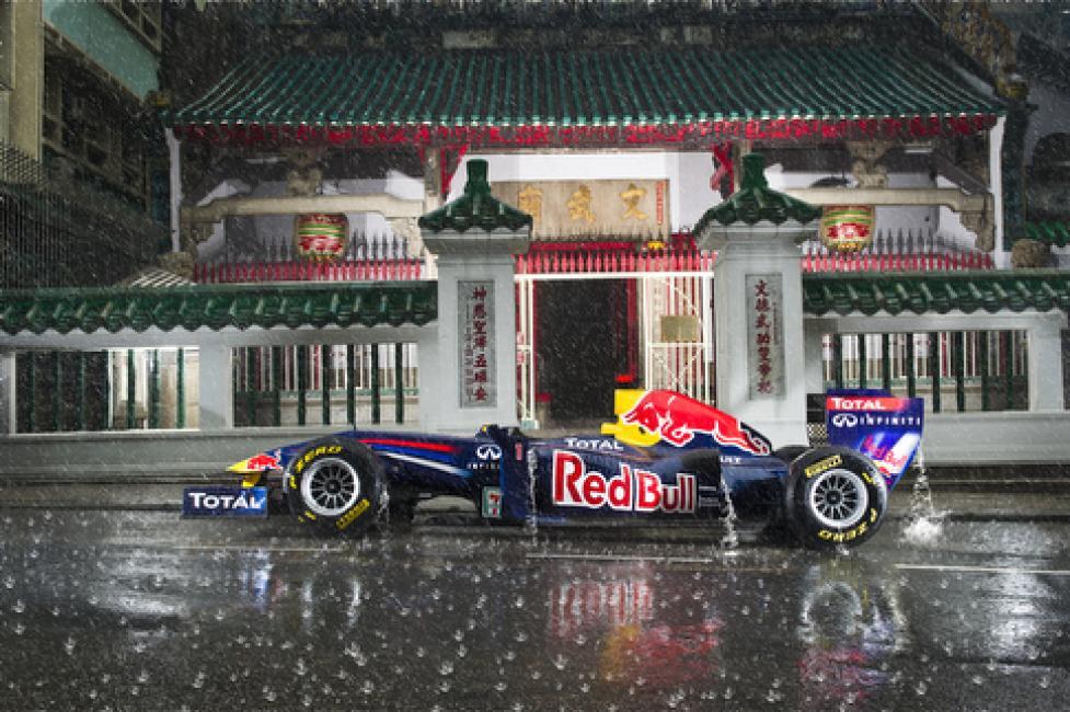 Fotografía de Victor Fraile para Nthephoto. Dragon Run 2012 del equipo Red Bull F1