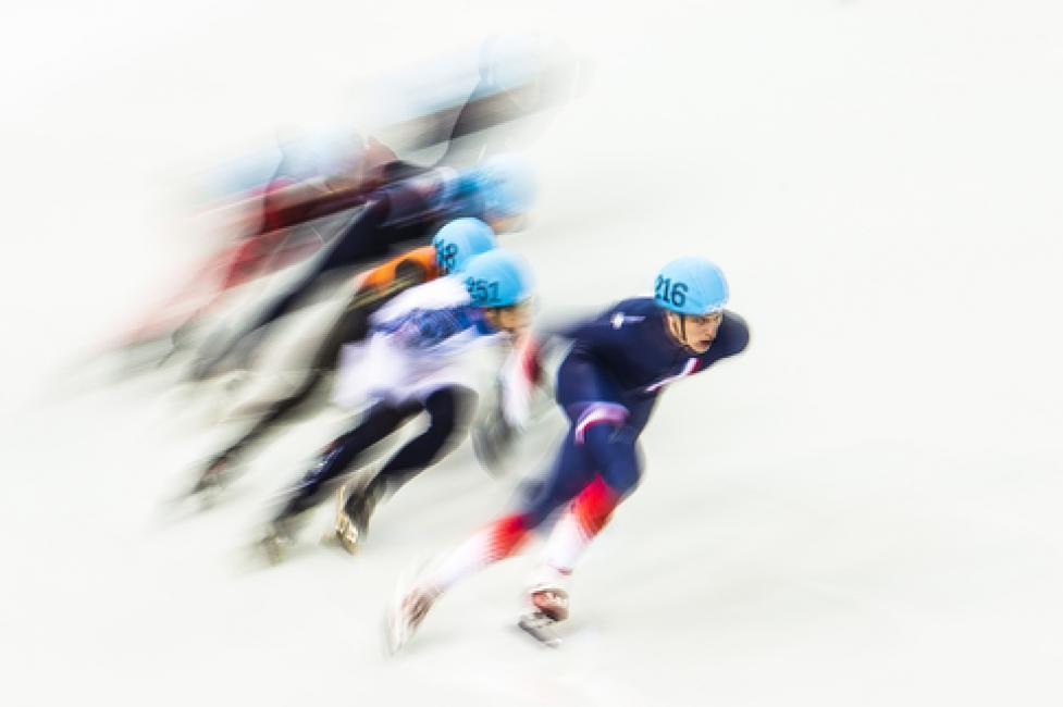 Fotografía de Victor Fraile para Nthephoto. Patinaje de velocidad en Sochi 2014