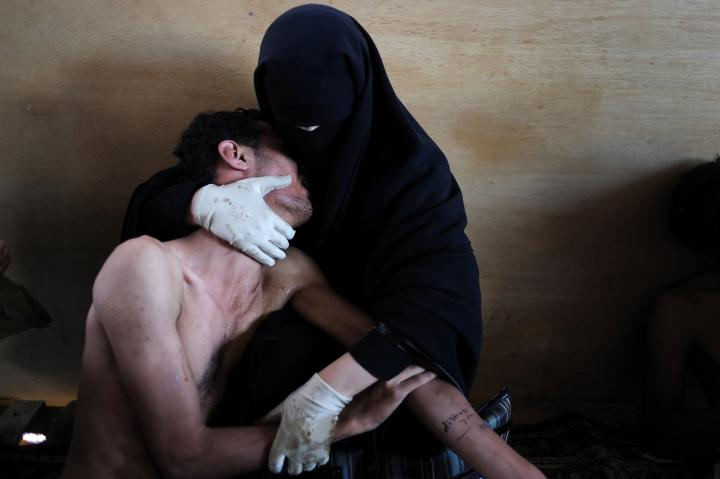 Fotografía de Samuel  Aranda para Nthephoto. Foto realizada en Yemen durante la primavera árabe para The New York Times